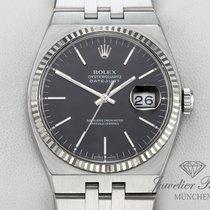 Rolex Datejust Oysterquartz Goud/Staal 36mm Zwart