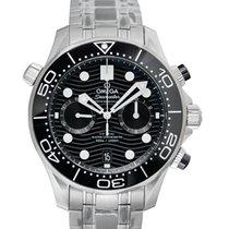Omega Seamaster Diver 300 M 21030445101001 Omega Seamaster Diver 300M Chrono Nero 44mm New Steel 44mm Automatic