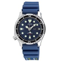 Citizen Steel 42mm Automatic NY0040-17LE Promaster 200m Blue Dial Blue Rubber Strap Diver new