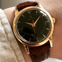 Eterna Gold/Steel 35mm Automatic Eterna-Matic Black Dial pre-owned