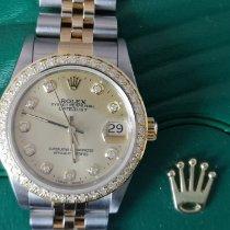 Rolex Lady-Datejust Ouro/Aço 31mm Branco Sem números