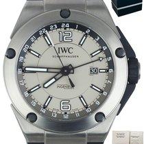 IWC Ingenieur Dual Time begagnad 45mm Grå Datum Naturgummi