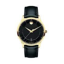 Movado 1881 Automatic Staal 39.5mm Zwart