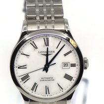 Longines Record Steel 40mm White Roman numerals United States of America, New York, New York