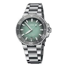 Oris Aquis Date Steel 39.5mm Green No numerals