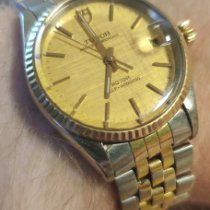 Tudor Silver Automatic Yellow pre-owned Prince Oysterdate
