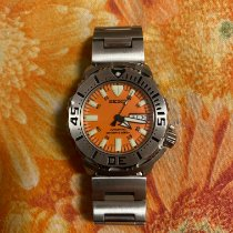 Seiko Monster Staal 42.5mm Oranje