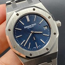 Audemars Piguet Royal Oak Jumbo Steel 39mm Blue No numerals United States of America, New York, Manhattan