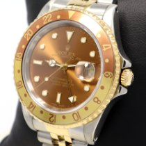 Rolex GMT-Master II Золото/Cталь 40mm Коричневый Без цифр