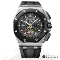 Audemars Piguet Royal Oak Offshore Tourbillon Chronograph 26348IO.OO.A002CA.01 Ungetragen Titan 44mm Automatik