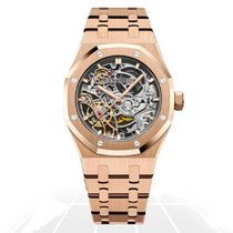Audemars Piguet Royal Oak Double Balance Wheel Openworked Pозовое золото 37mm Прозрачный Без цифр