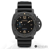 Panerai Carbon Automatic Black No numerals 47mm new Luminor Submersible 1950 3 Days Automatic