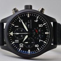 IWC Pilot Chronograph Top Gun nuevo 2020 Automático Cronógrafo Reloj con estuche y documentos originales IW389101