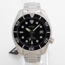 Seiko Prospex Steel 45mm Black No numerals