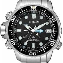 Citizen Promaster Marine Ocel 46mm Černá Bez čísel