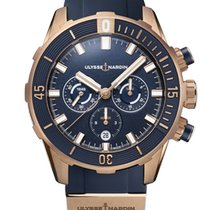 Ulysse Nardin Diver Chronograph 1502-170-3/93 New Rose gold 44mm Automatic