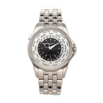 Patek Philippe World Time White gold 39.5mm Silver No numerals United States of America, Pennsylvania, Bala Cynwyd