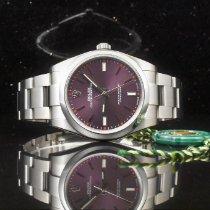 Rolex Oyster Perpetual 39 Acciaio 39mm Violetto Senza numeri