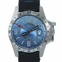Ball Engineer Hydrocarbon GMT gebraucht 40mm Blau Datum GMT/Zweite Zeitzone Kautschuk