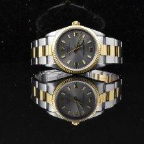 Rolex gebraucht 34mm Silber Gold/Stahl