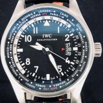 IWC Pilot Worldtimer Acier 45mm Noir Arabes