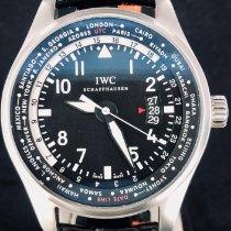 IWC Pilot Worldtimer Staal 45mm Zwart Arabisch