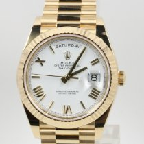 Rolex Day-Date 40 Or jaune 40mm Blanc Romain