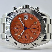 Eterna Super Kontiki Steel 39mm Orange Arabic numerals