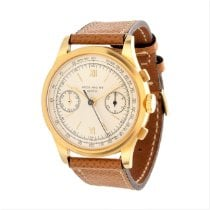 Patek Philippe Chronograph Yellow gold 36.5mm Silver Roman numerals United States of America, California, Los Angeles