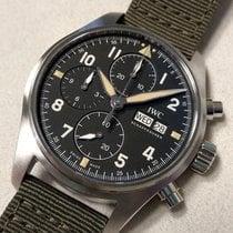 IWC Steel Automatic Black Arabic numerals 41mm new Pilot Spitfire Chronograph