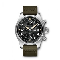 IWC Pilot Spitfire Chronograph Steel 41mm Black Arabic numerals United States of America, Iowa, Des Moines