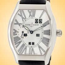 Ulysse Nardin White gold Automatic Silver Roman numerals 38mm pre-owned
