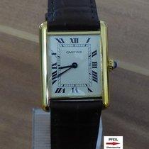 Cartier Tank Vermeil Argent 23,5mm Blanc Romain