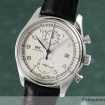 IWC Portuguese Chronograph Ocel 42mm Stříbrná