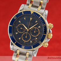 Zenith El Primero Chronograph pre-owned 40mm Blue Chronograph Date Gold/Steel