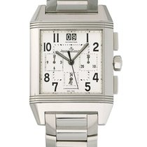 Jaeger-LeCoultre Reverso Squadra Chronograph GMT pre-owned 34mm Silver Steel