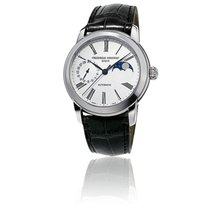 Frederique Constant Manufacture Slimline Moonphase Steel 42mm White Roman numerals