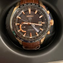 Seiko Astron GPS Solar Chronograph Rose gold 45mm Mother of pearl