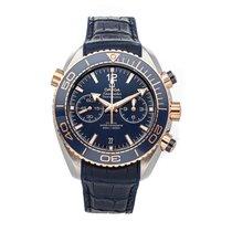 Omega Seamaster Planet Ocean Chronograph Acier 45.5mm Bleu Sans chiffres