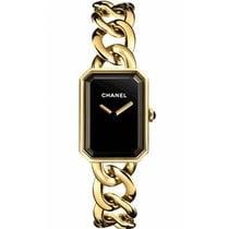 Chanel Gelbgold 20mm Quarz H3257 neu
