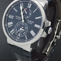 Ulysse Nardin Marine Chronometer Manufacture occasion 43mm Date Calendrier annuel Cuir de crocodile