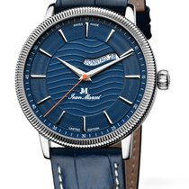 Jean Marcel new Automatic Display back Central seconds Limited Edition Quick Set 43mm Steel Sapphire crystal