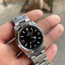 Rolex Explorer pre-owned 36mm Black Steel