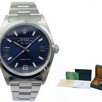Rolex Air King Precision Otel 34mm Albastru Arabic