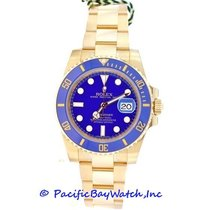 Rolex Submariner pre-owned 40mm Blue Date Yellow gold