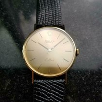 Rolex Cellini pre-owned 31mm Gold Leather