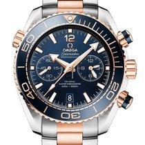 Omega Seamaster Planet Ocean Chronograph Zlato/Zeljezo 45.5mm Plav-modar
