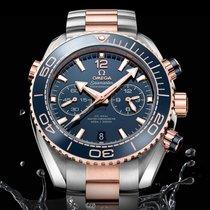 Omega Seamaster Planet Ocean Chronograph Zlato/Ocel 45.5mm Modrá