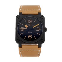 Bell & Ross BR 03-92 Ceramic pre-owned 42mm Black Date Leather