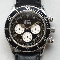 Zenith El Primero Chronograph Acier 40mm Noir Sans chiffres